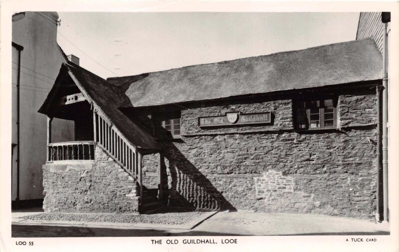 The Old Guildhall before the windows were replaced on the ground floor, East Looe