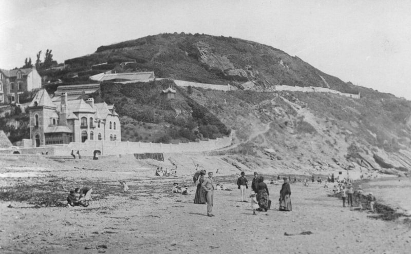 Late 1800's on East Looe beach